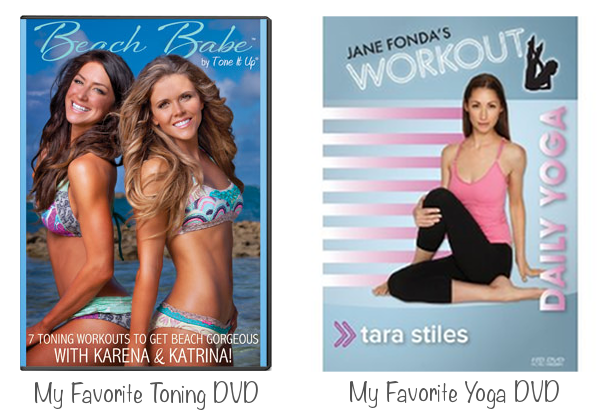 Tone It Up DVD image from here &amp; Daily Yoga DVD image from here