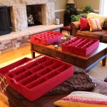 Three large trays hold all ornament shapes & sizes