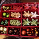Storing like ornaments together to maximize space