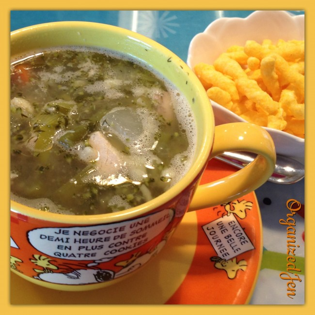 Don's Homemade Chicken Soup & Cheese Curls (365 Everyday Value brand from Whole Foods)