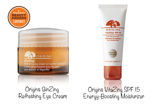 Origins GinZing Refreshing Eye Cream (photo source) & Origins VitaZing SPF 15 Energy-Boosting Moisturizer (photo source)