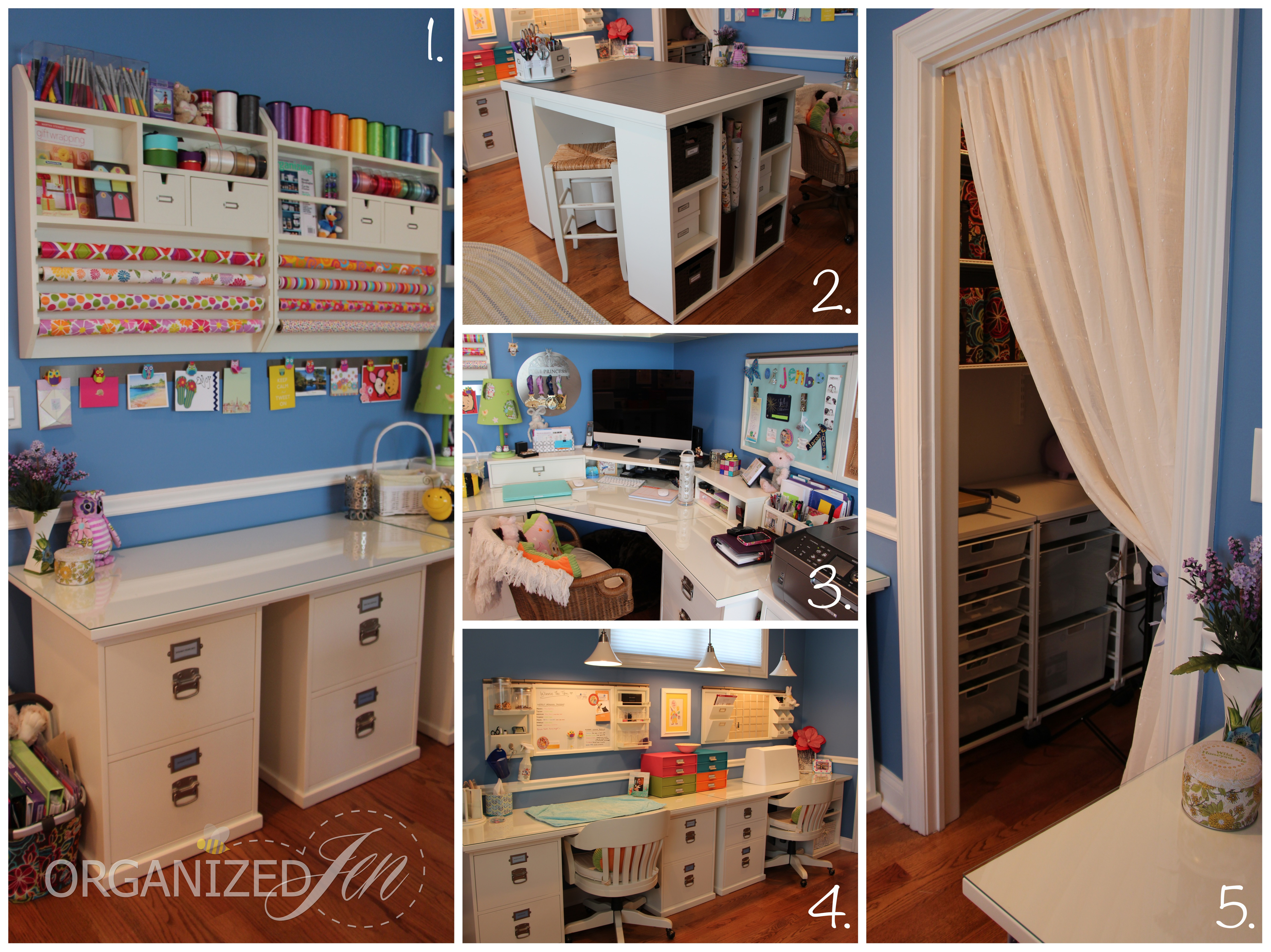 Home office craft room tour pretty neat living for How to organize house
