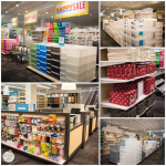 The center of the store is dedicated to larger storage containers, bins, and boxes, as well as any featured items on sale.  Currently, TCS is running the Happy Organized Home sale.