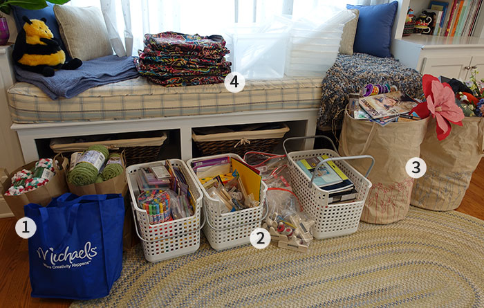 Craft closet clean out spring 2015 for Crafts to donate to charity